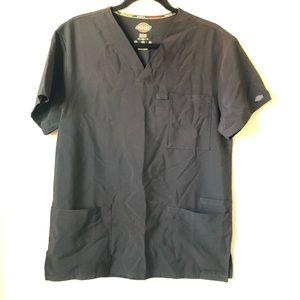DICKIES black polyester scrub top w/ extra pocket